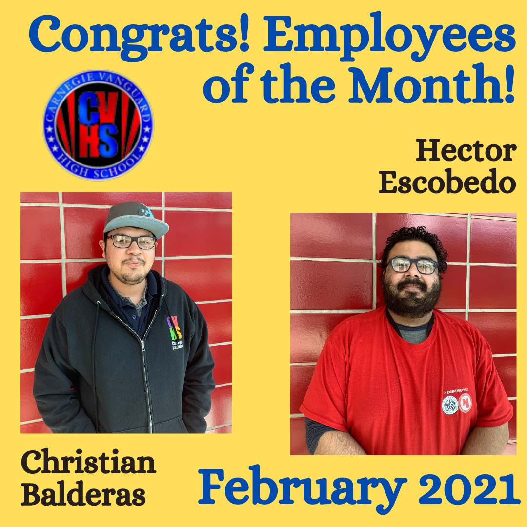 CVHS Employees of the Month: Christian Balderas & Hector Escobedo