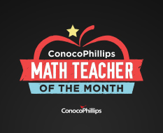 Ms. Chen is ConocoPhillips Math Teacher of the Month!