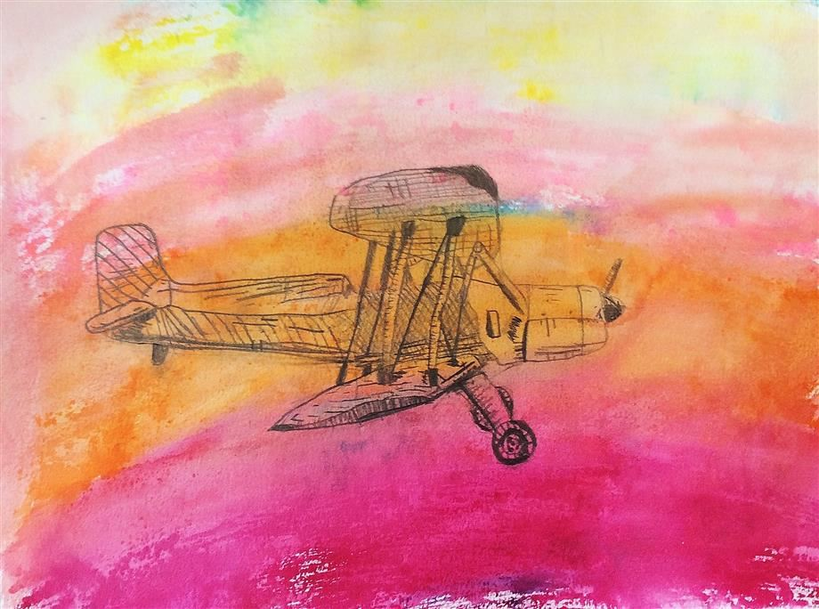 Ross Sterling Aviation High School ART Contest Project 3rd Place