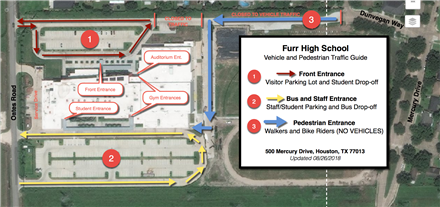 Furr High School Map and Traffic Guide
