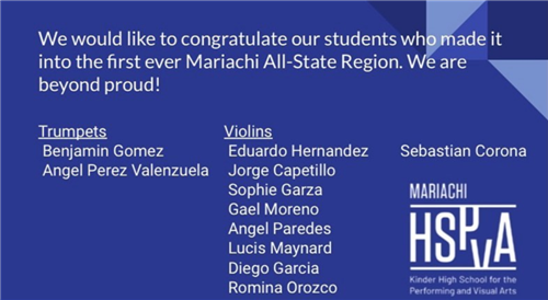 Mariachi All-State Region students