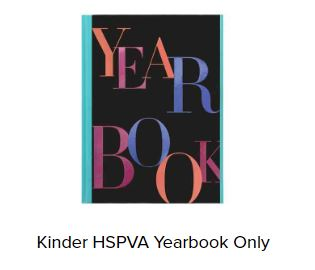 Kinder HSPVA 2020 Yearbooks Available (LIMITED!)