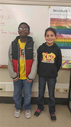 Spelling Bee Winner Amani and Runner-Up Abigail