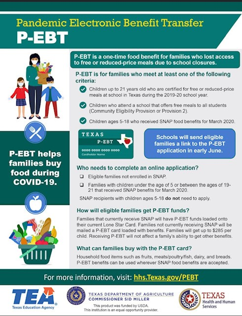 Pandemic-EBT - Benefits for Children Up to 21