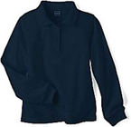 navy ls polo shirt