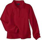 red ls polo shirt