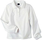 white ls polo shirt