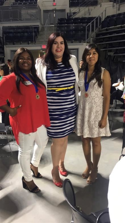 Congrats to these two young ladies!  An our amazing counselor Ms. Hernandez