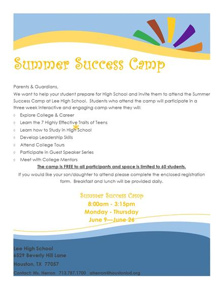 Summer Success Camp