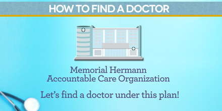 find a doctor at Memorial ACO
