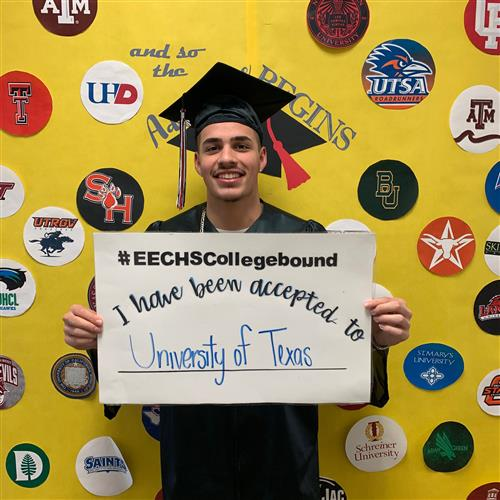 Student Recogniton:  Fabian Trevino a student East Early College accepted to UT!