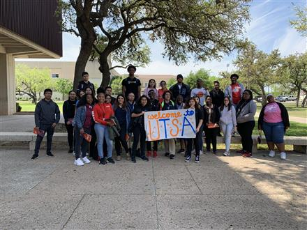 Students from Madison HS and Sterling HS visited UTSA
