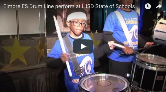 2016 HISD State of the Schools: Elmore Elementary School Drum Line