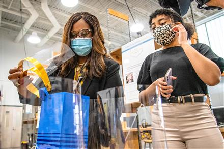 Students create face shield for superintendent
