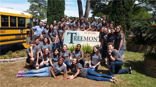 NJHS students at Treemont Assisted Living for Annual Talent Show
