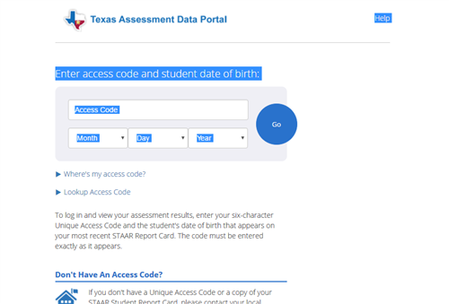 Parent and Student Tutorials / Getting STAAR Results