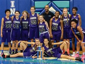 Lanier Basketball 1st Place