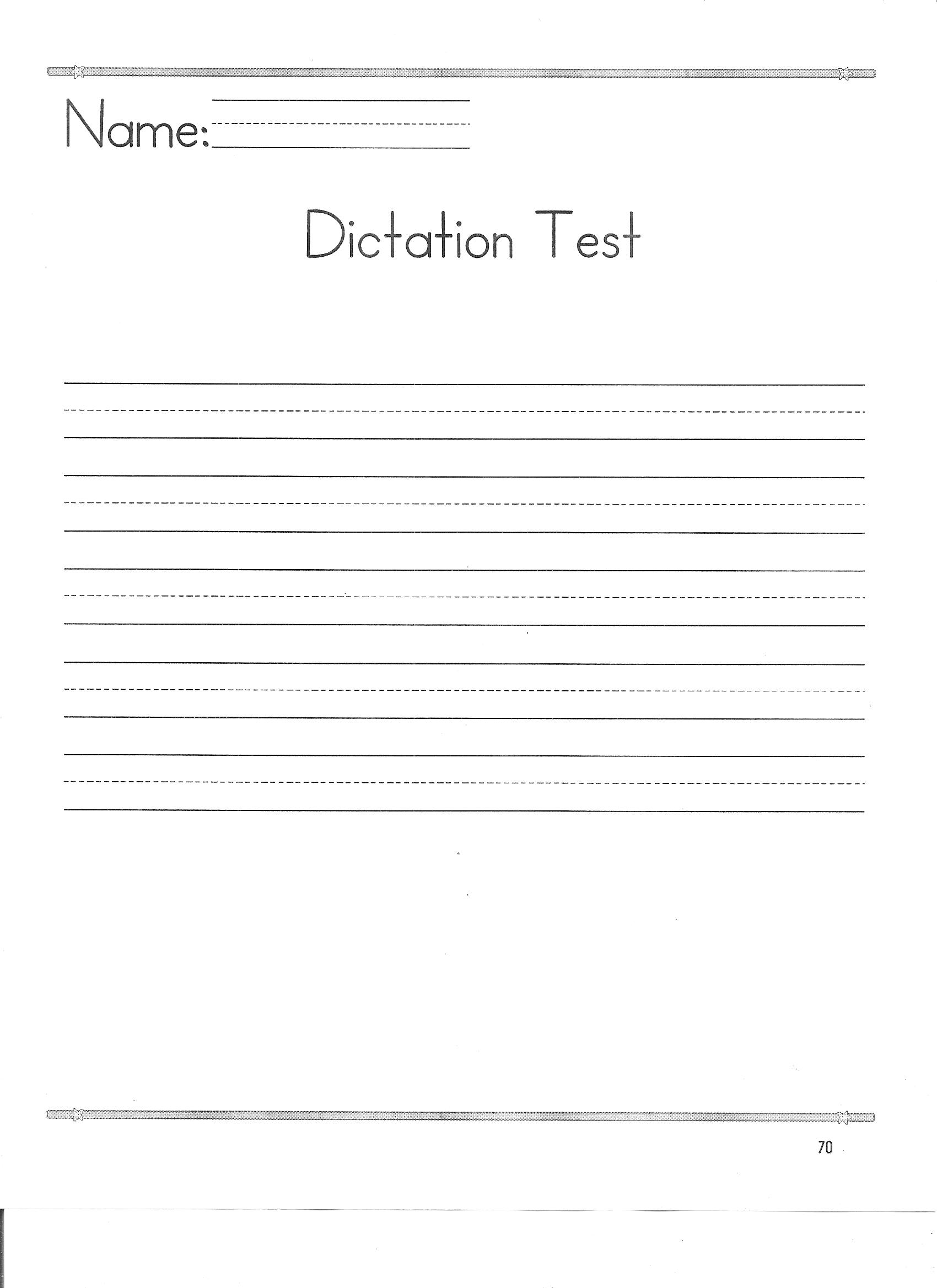 Practice Tips Spelling Test Template Dictation Test Template
