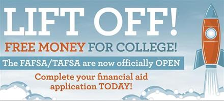 Get professional help with FAFSA or TASFA - Oct 29th - 5pm
