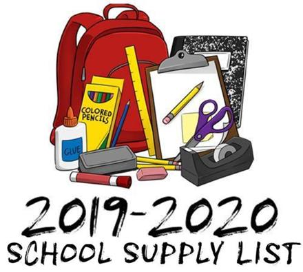 Windsor Village School Supply Lists