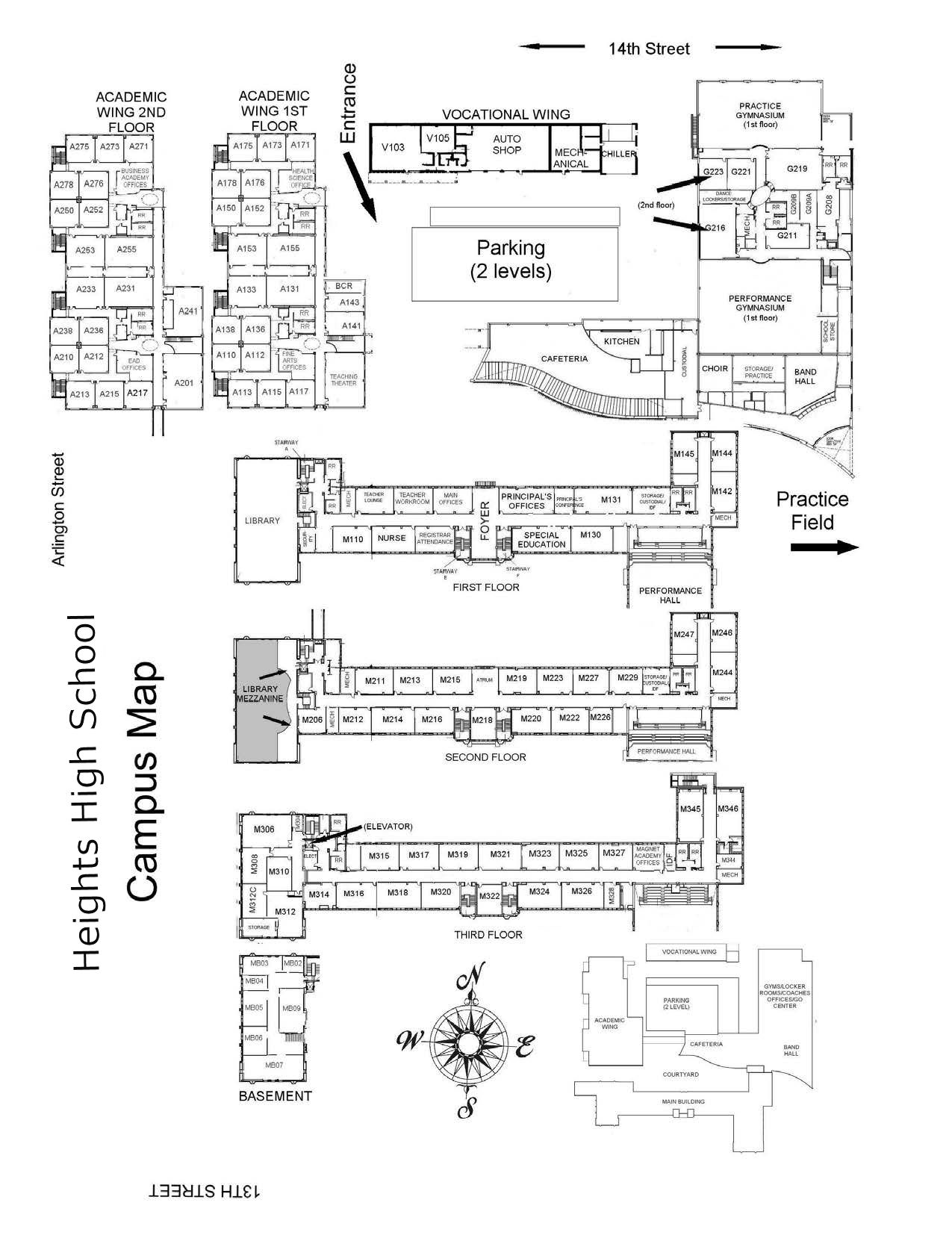 Navarro College Campus Map.School Information Building Map