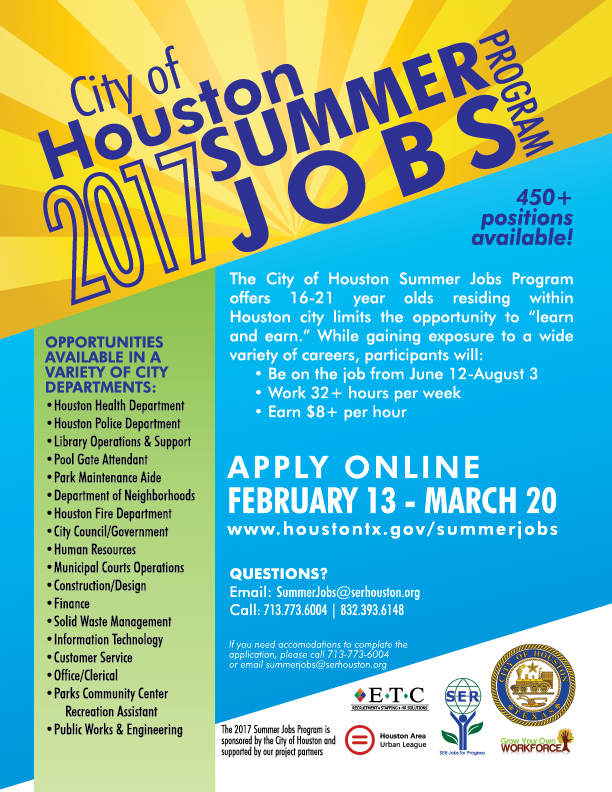 jobs for the summer