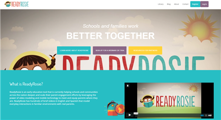 ReadyRosie is an early education tool that is currently helping schools and communities across the nation deepen and scale their parent engagement efforts.