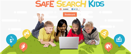 Safe Search Kids is powered by Google to deliver filtered search results.