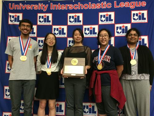Keshav Srivath and Macy Huang leads CVHS Spelling and Vocab Team to 1st place at UIL State