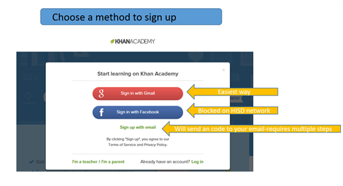 signup method