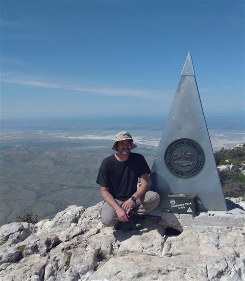 This is the highest point in Texas!  The Guadalupe Peak.
