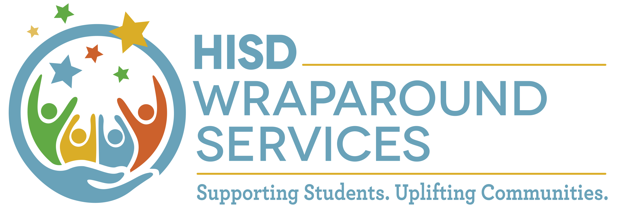 Wraparound Services Logo. Supporting Students. Uplifting Communities.