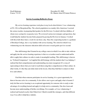 Community service volunteering essay