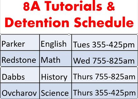 Tutorials and Detention Times