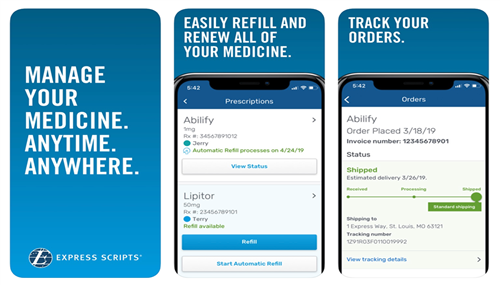 express scripts app screen