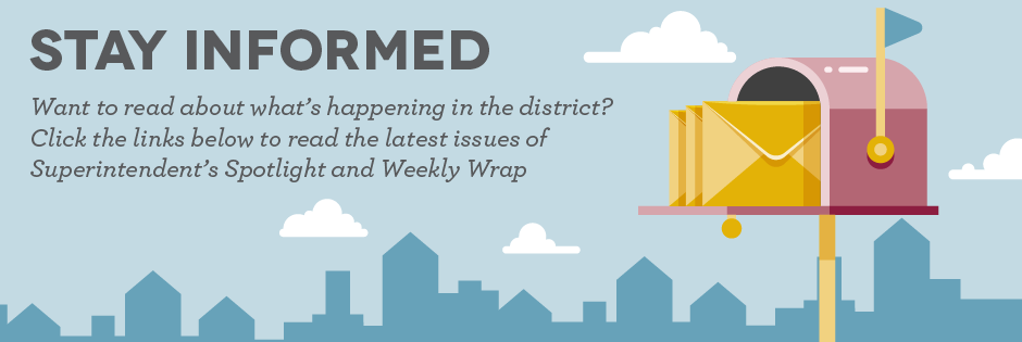 Stay informed: Want to read about what's happening in the district? 