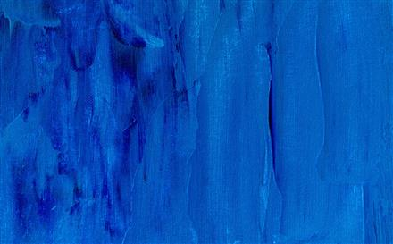 blue abstract painting by Steve Johnson