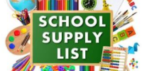 School Supply SY 20 - 21