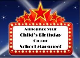 Birthday Announcement