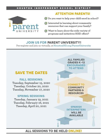 Parent University, Tuesday, November 17th