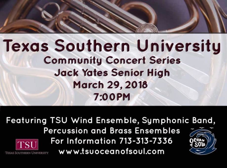 Texas Southern University Community Concert Series at Jack Yates!