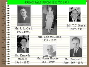Edison Principals 1925 to 1975