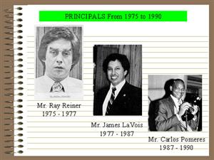 Edison Principals 1975-1990