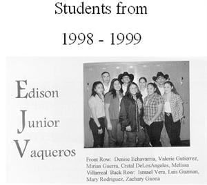 Edison Junior Vaqueros 1998