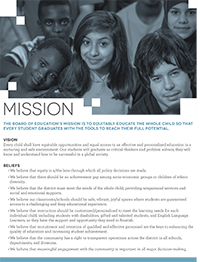 Click here for a printer-friendly PDF version of the Mission, Vision, Beliefs, Constraints, and Goals.