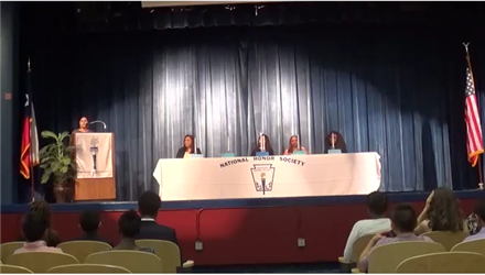 2016 National Honor Society Induction Ceremony at BCMAR