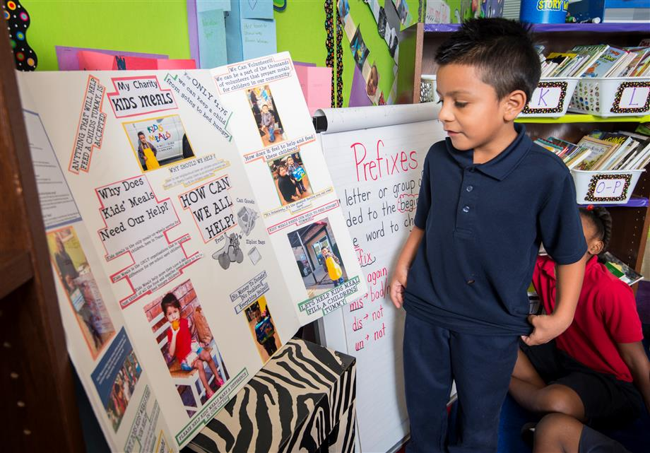 Students work on projects at Windsor Village Elementary School
