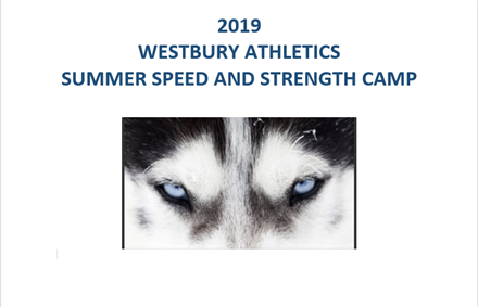 2019 Westbury Athletics Summer Speed & Strength Camp to be held June 10th through July 18th.