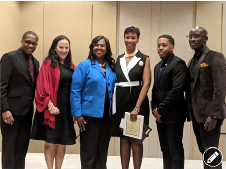 Ms. Cheryl Peterson, Westbury English Teacher, named as the 2019 Houston Area Alliance of Black School Educator's Secondary Level Teacher of the Year.
