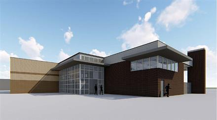 Designs for Westbury HS Fine Arts wings take shape